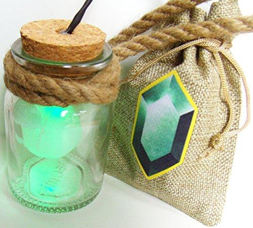 HEY listen! Link Cosplay al hada botella con LED verde y...