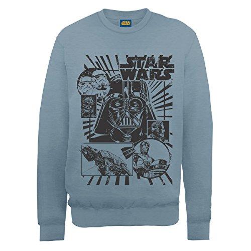 Star Wars Vader Distressed Parte de Arriba, Blue (Airforce...