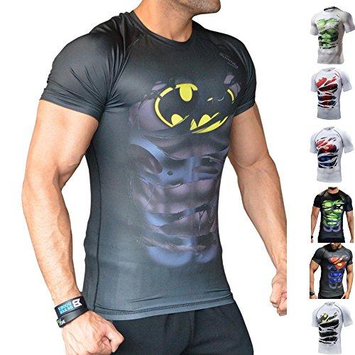Khroom Camiseta de Compresión de Superhéroe para Hombre  ...