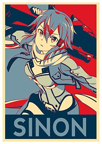 Instabuy Poster Sword Art Online Propaganda Sinon Gun Gale -...
