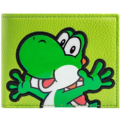 Cartera de Super Mario World Texturado Yoshi Verde