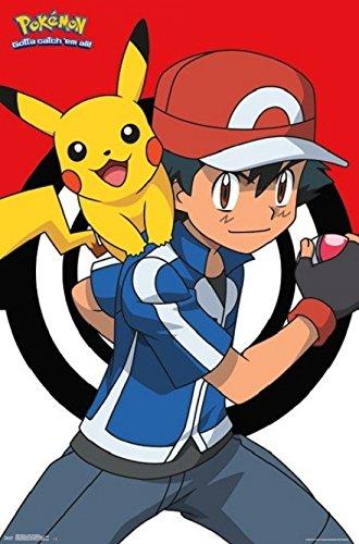 Pokemon - Ash and Pikachu Poster Laminado (60,96 x 91,44 cm)