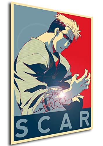 Instabuy Poster Full Metal Alchemist Propaganda Scar - FMA -...