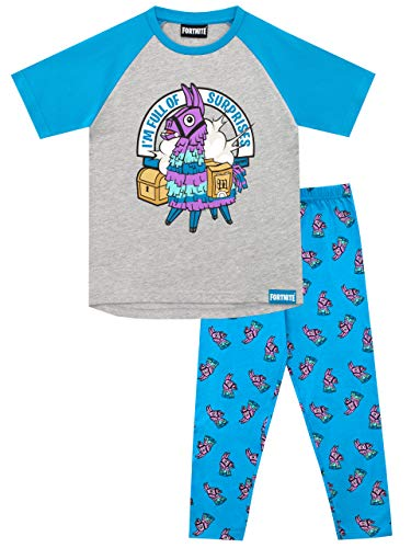 Fortnite Pijamas de Manga Corta para niños Llama Multicolor...