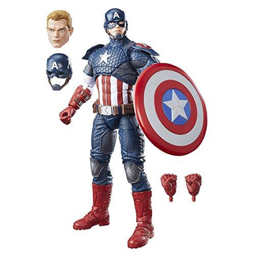 Avengers- Marvel Legends Figura Capitán América,...
