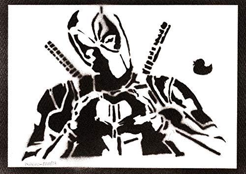 Póster Deadpool Masacre Grafiti Hecho a Mano - Handmade...