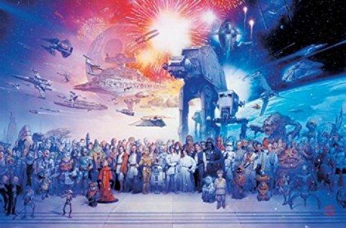 1art1 48334 Star Wars - Póster con el Reparto Completo (91...