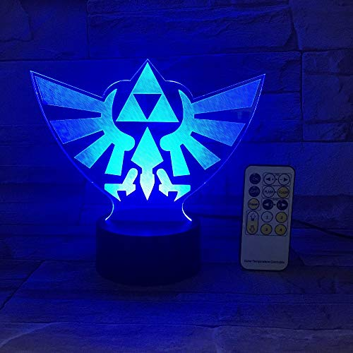 FaceToWind The Legend of Zelda Triángulo 3D USB LED Luz...