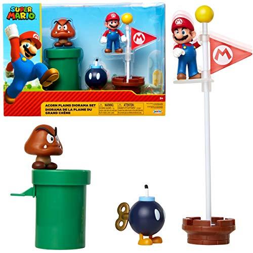 Jakks Pacific Super Mario-Set de Figuras Mundo Acorn,...