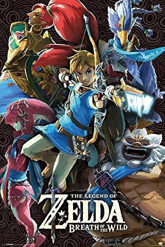 The Legend of Zelda Póster Breath of The Wild (61cm x...