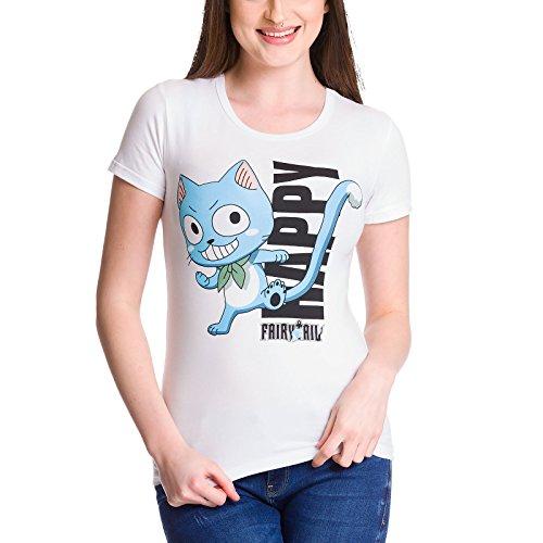 Fairy Tail Femenina Feliz Camisa de Las Señoras, de...