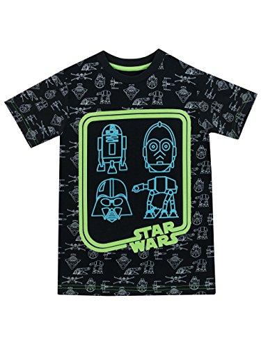 Star Wars - Camiseta para niño - Brilla en la Oscuridad -...