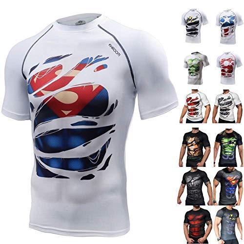 Khroom Camiseta de Compresión de Superhéroe para Hombre |...