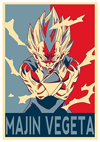 Instabuy Poster Dragon Ball Propaganda Majin Vegeta SS2 - A3...