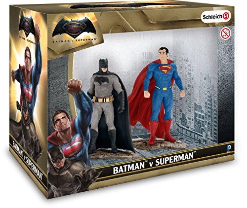 Schleich DC Comics - Set 2 figuras, Batman y Superman