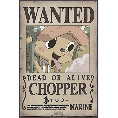 ABYstyle One Piece - Póster Wanted Chopper New (52x38)