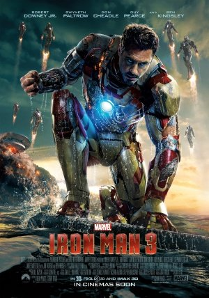 Póster de Iron Man 3 – Robert Downney JR – importado...