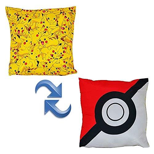 Cojín Cuadrado de Pokémon, Multicolor.