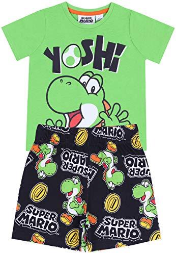 Pijama Negro- Verde Yoshi - Super Mario 2-3 Años 98 cm