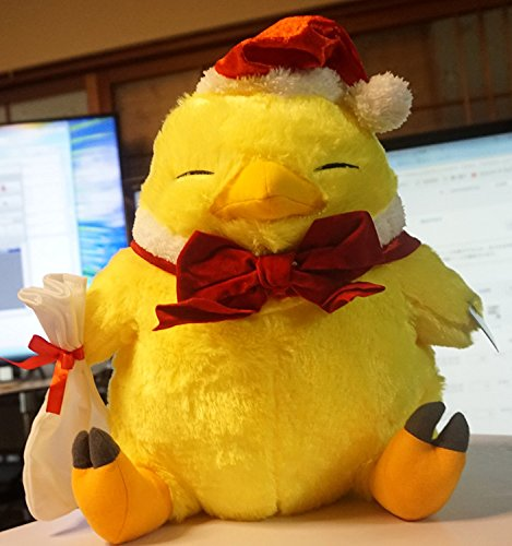 taito Final Fantasy XIV Chubby Chocobo Plush Toy Winter ver...