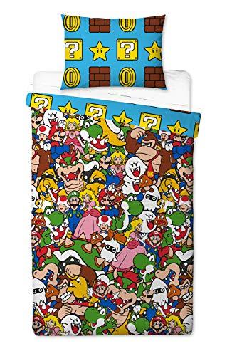 Super Mario Gang - Funda de edredón para Cama Individual,...