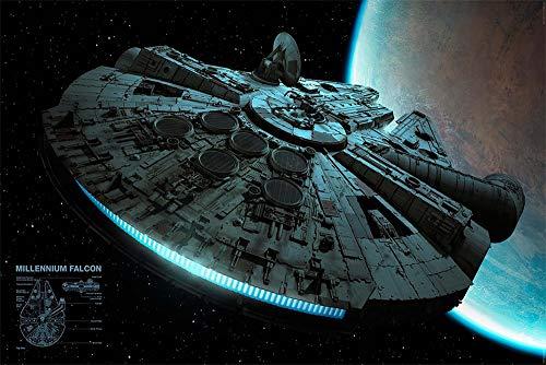 Póster Star Wars 'Millenium Falcon/ El Halcón Milenario'...