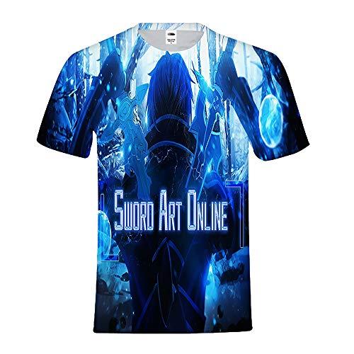 Sword Art Online Camisetas Moda T-Shirt Simple Camiseta...