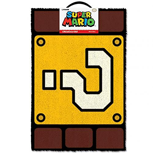 Super Mario Felpudo QUESTION Mark Block, Vinilo, Multicolor,...