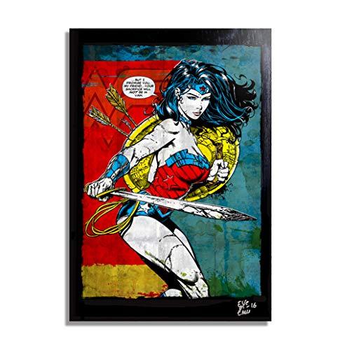 Wonder Woman (Mujer Maravilla) DC Comics - Pintura Enmarcado...