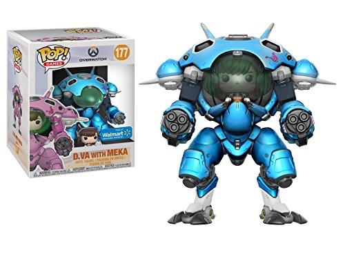 Pop! Overwatch - D.Va with Meka, Blueberry, 15 CM Exclusive