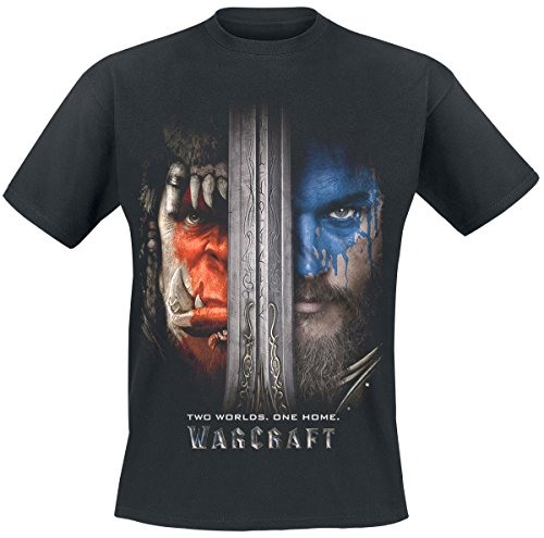 Warcraft Two Worlds - One Home Camiseta Negro S, 100%...