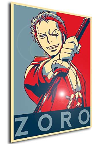 Instabuy Poster One Piece Propaganda Zoro Variant 2' - A3...