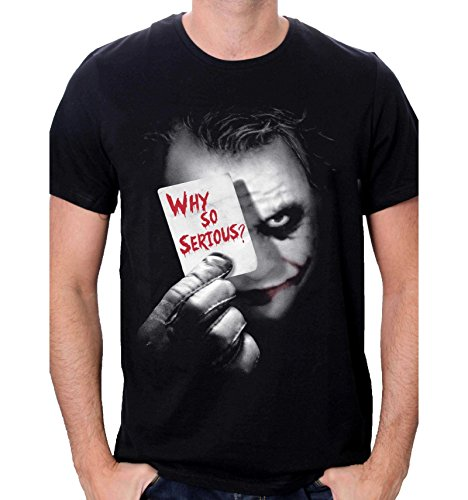 Batman Joker Why So Serious Camiseta, Negro, XL para Hombre