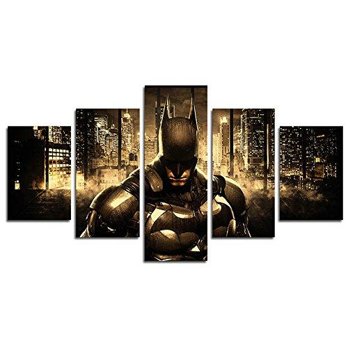 Lienzo impreso de YspgArt66 con 5 paneles de Batman, pintura...