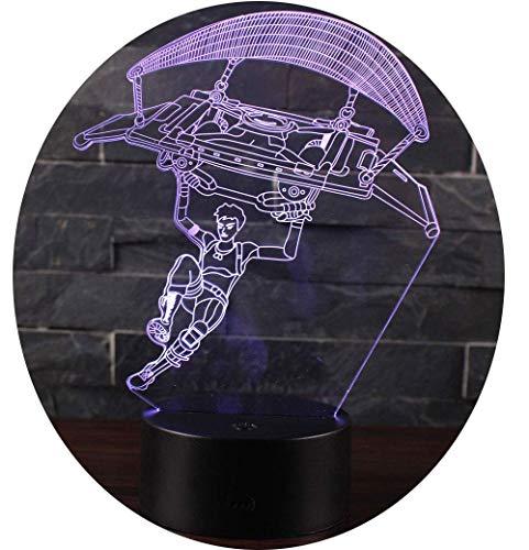Ray-Velocity 3D Lámpara LED luz de la Noche 7 Cambiar el...