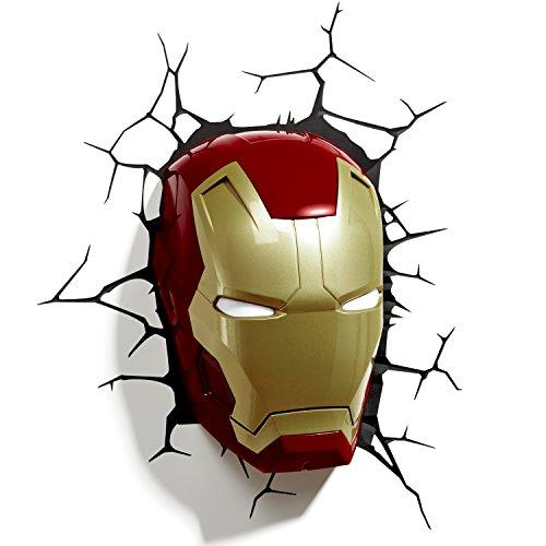 3D Light FX - Luz para Pared, diseño de máscara de Iron...