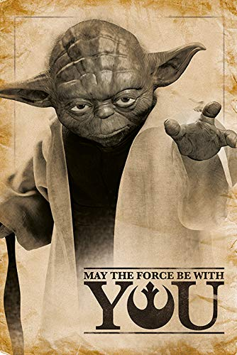 Pyramid intl - Poster Star Wars - Yoda May The Force be with...