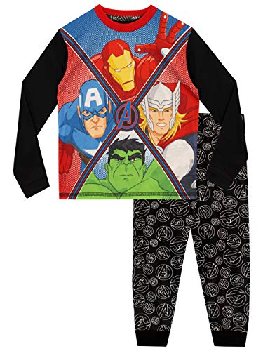 Marvel Avengers - Pijama para Niños - Hulk, Thor, Iron Man...