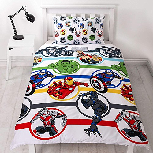Marvel Avengers - Juego de sábanas para niños con funda...