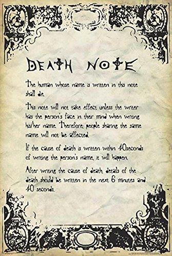 Póster 'Death Note - Rules/Reglas' (61cm x 91,5cm) + 2...