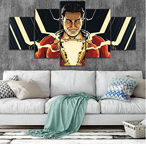 Rjbzd Shazam Art Canvas Posters Home Decor Wall Art...