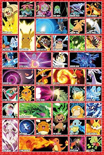 Grupo Erik Editores Pokemon Moves Poster, Madera,...