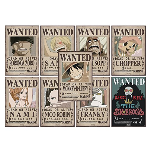 ABYstyle–One Piece–Lote de 9Pósters...