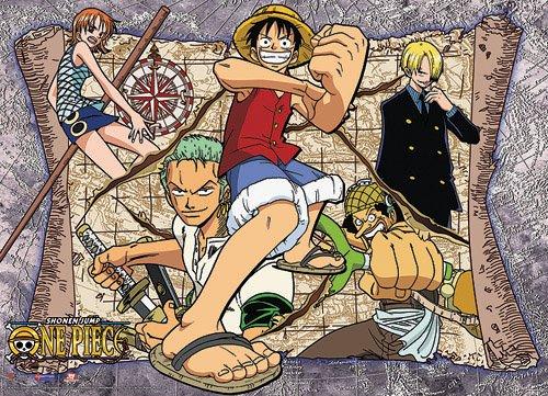 Gran Entretenimiento Oriental One Piece Mapa Desplazamiento...