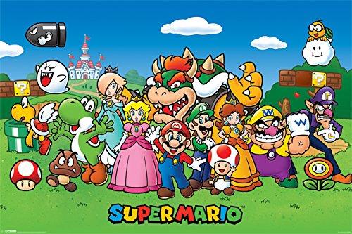 Super Mario Póster (tamaño Grande), diseño de Personajes,...