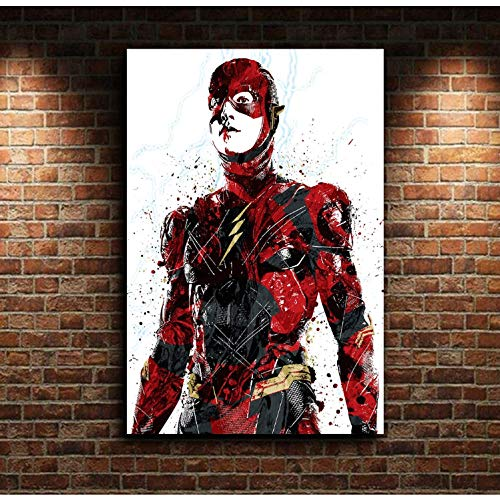 taoyuemaoyi The Flash DC Movie Canvas Poster Wall Art Print...