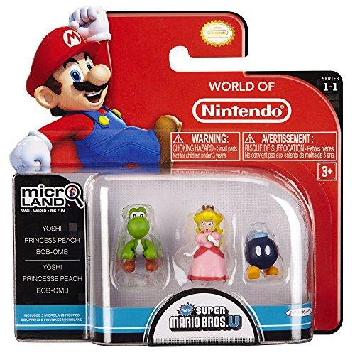 Nintendo - Figura Bob-Om, Princess Peach, Yoshi, 2 cm