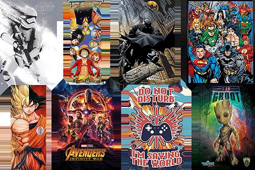 Posters anime comics videojuegos